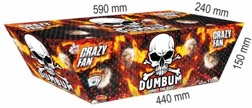 Dumbum Crazy Fan 135 ran / 20mm – šikmý